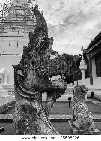 Statues in Buddhist temple Chiang Mai
