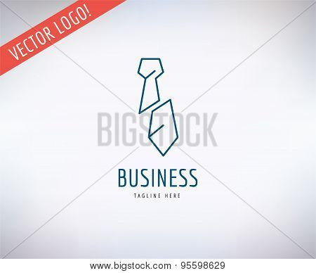 Tie vector logo icon. Business, bank and lawer symbol. Stocks design elements