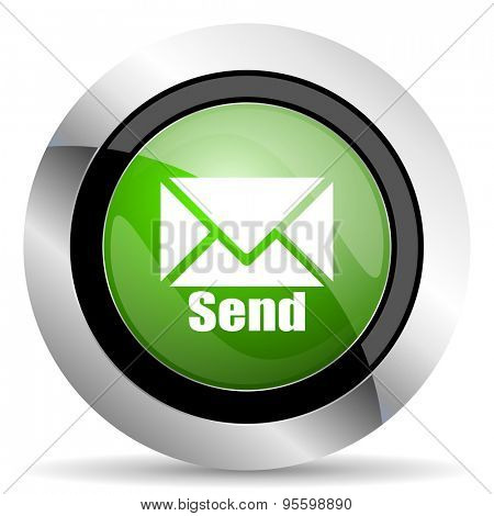 send icon, green button, post sign