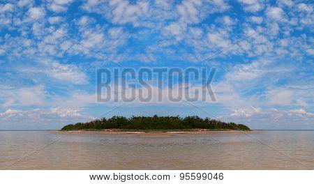 Beautiful uninhabited island in the Black Sea.