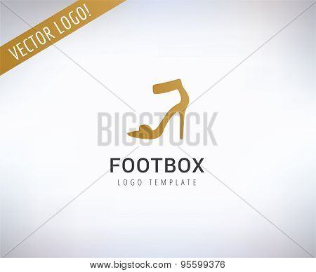Shoes vector logo template. Fashion, clothes and shop symbols. Stocks design elements.