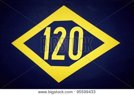 120 Train Signal In Yellow And Blue Tone
