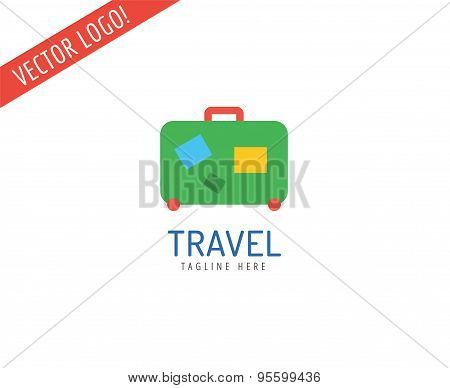 Travel vector logo icons set. Sea, summer or holiday and sea symbol. Stocks design element.