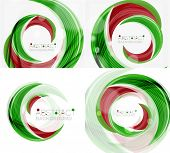 image of slogan  -  green swirl line abstract background - JPG