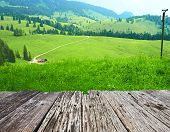 stock photo of bavarian alps  - Bavarian landscape at Alps - JPG