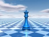 stock photo of chessboard  - beautiful background with chess queen sky and chessboard - JPG