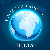 picture of population  - illustration beautiful globe for World Population Day - JPG
