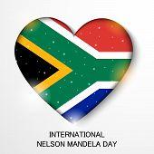 image of nelson mandela  - illustration of a Heart for International Nelson Mandela Day - JPG