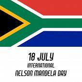 foto of nelson mandela  - illustration of a greeting card for International Nelson Mandela Day - JPG