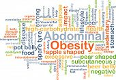 foto of pot-bellied  - Background concept wordcloud illustration of abdominal obesity - JPG