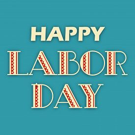 stock photo of labor  - illustration of a colorful stylish text for Labor Day - JPG