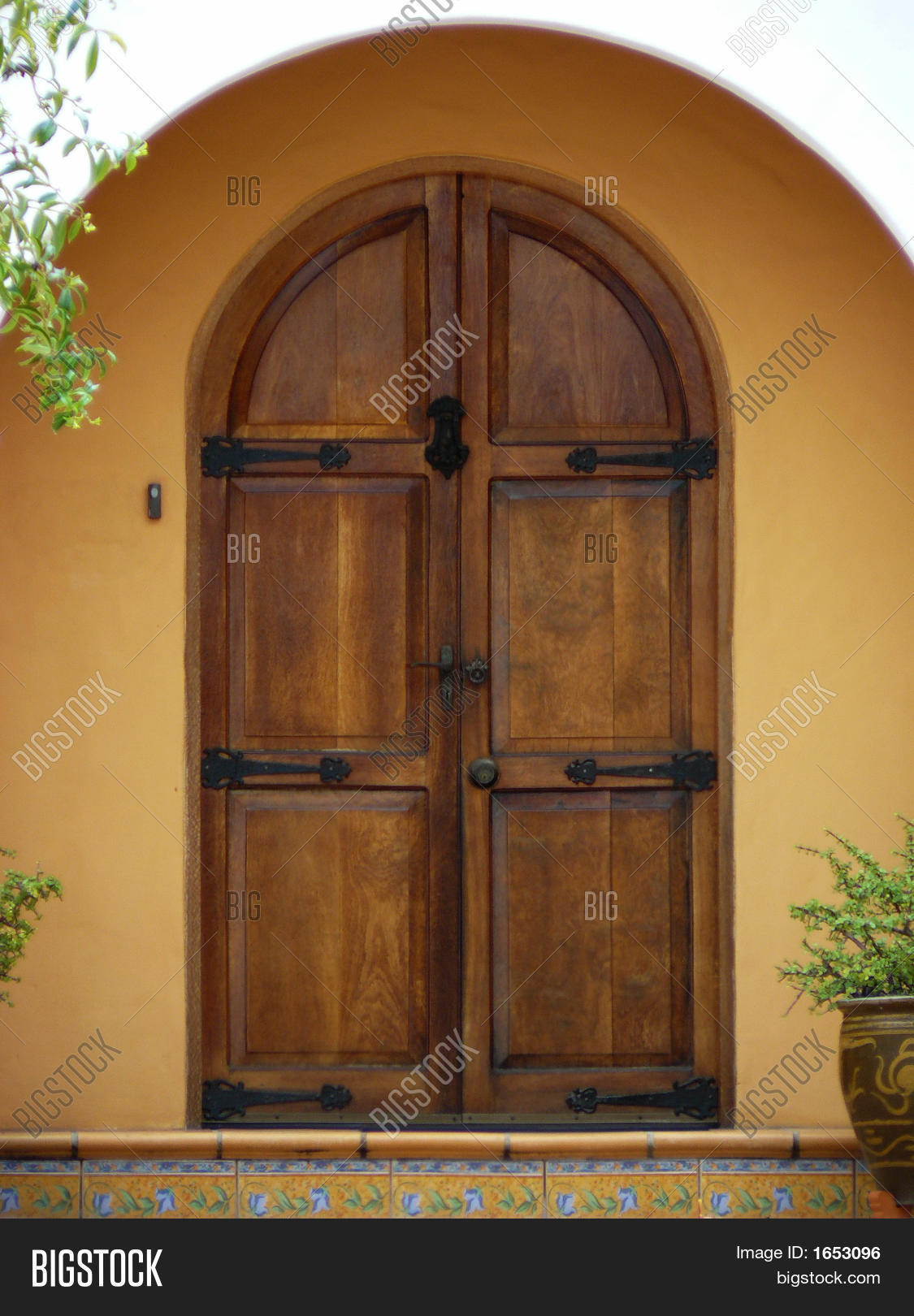 1620 #6E4223 Front Door Arched Wooden Stock Photo & Stock Images Bigstock image Arched Wood Entry Doors 40831125