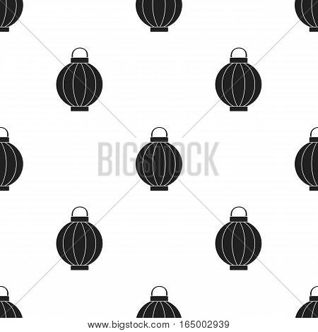 Korean lantern icon in  black style isolated on white background. South Korea pattern vector illustration.