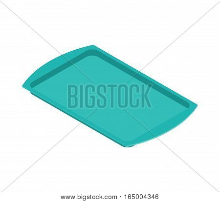 Tray Isolated. Salver Empty On White Background