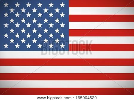 Flag of the United States of America. Independence Day.