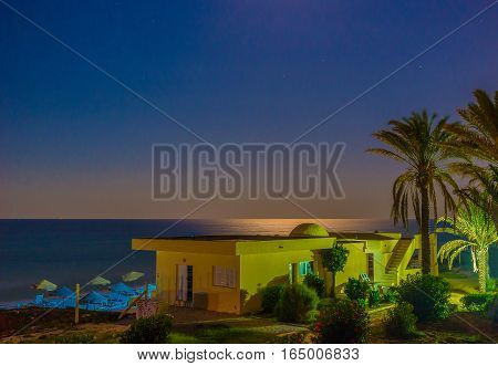 The Evening On Mediteerranean Sea