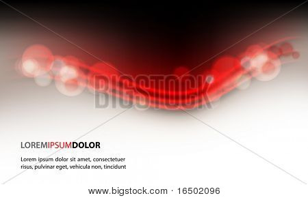 Abstract Lights on Clean Vector Wave Background
