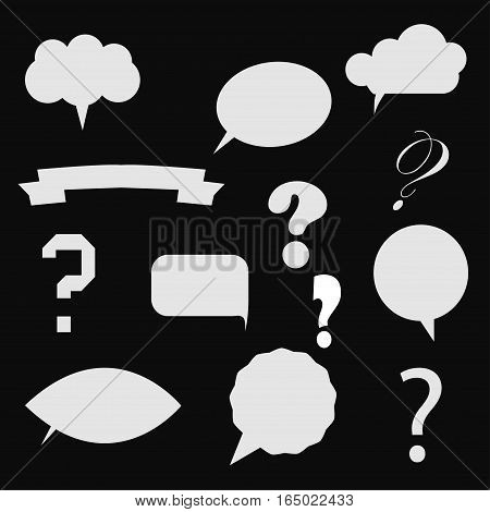 Vector illustration of question mark in colorful speech bubbles