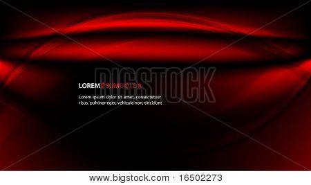 Abstrakt transparenten Vektor Hintergrund - glänzend rote Wellen