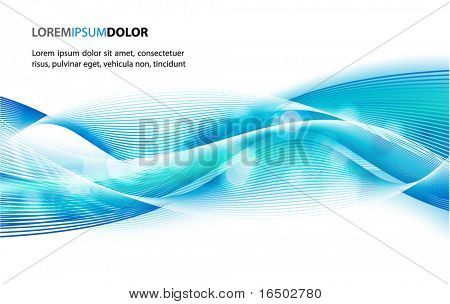 Abstract Vector Background - Transparent Lights on Colorful Waves