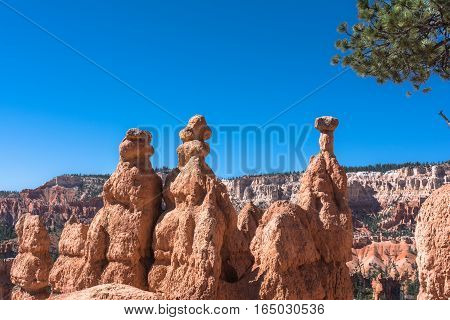 Balanced rocks in Bryce Canyon National Park, Utah