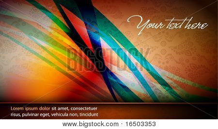 Intensive Colors - Abstract EPS10 Vector Design | Seamless Flourish in Background
