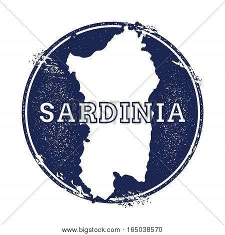 Sardinia Vector Map. Grunge Rubber Stamp With The Name And Map Of Island, Vector Illustration. Can B