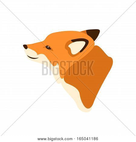 Fox head  vector illustration style Flat side profile