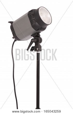 Studio lighting isolated on the white background with soft shadow
