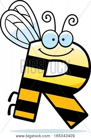Cartoon Letter R Bug
