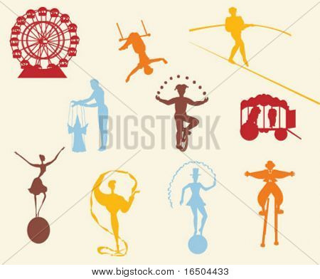 silhouette from the circus