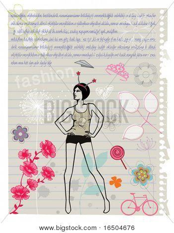 papel de caderno