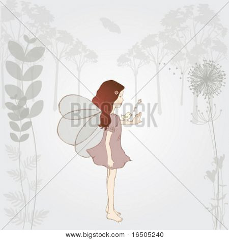 vector fairy illustration