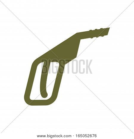 Fuel Gun Isolated Flat Sign. Gas Pump