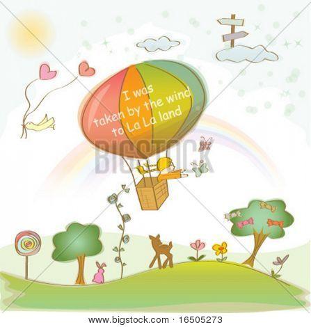 vector air balloon illustration