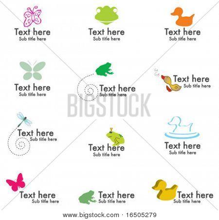 Vektor-Satz von Tiere-Symbole