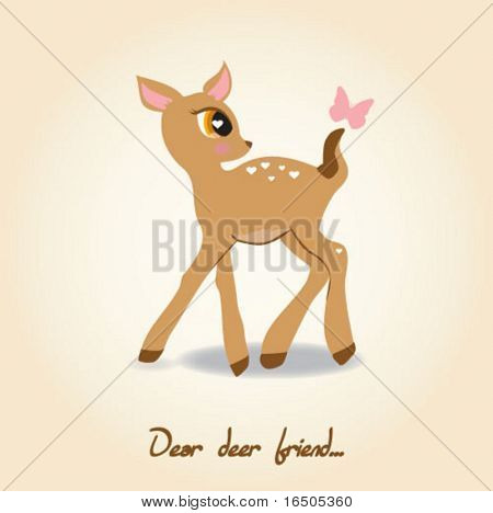 vector cute deer
