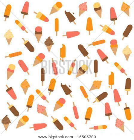 pattern of ice-creams and ice-lolly