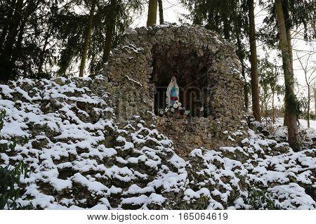 Lourdesgrotte in Zaisenhausen (Germany) / Holy Maria