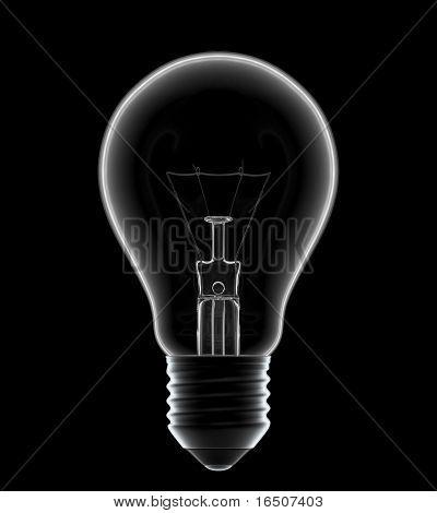 Light bulb in the dark