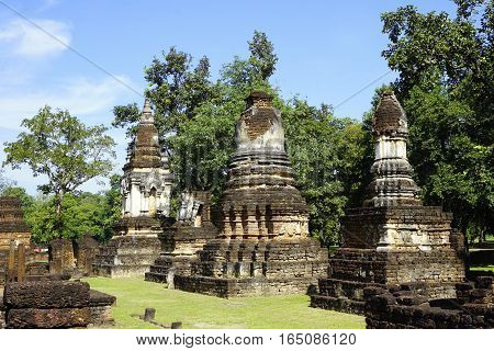 Historical Pagoda Wat Chedi Seven Rows Temple