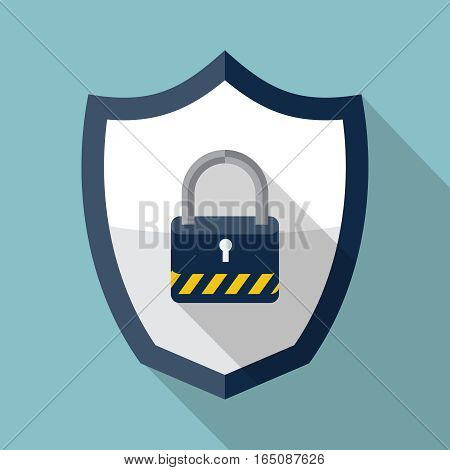 Security shield icon, design element for mobile and web applications, eps 10