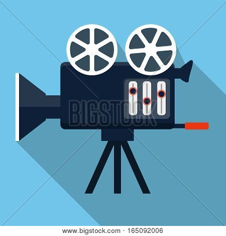 Cinema camera icon, design element for mobile and web applications, eps 10