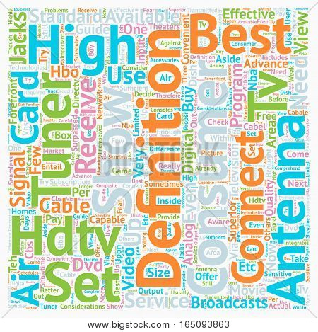 best hdtv antenna text background wordcloud concept