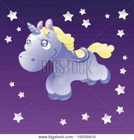 Little Unicorn in the sky