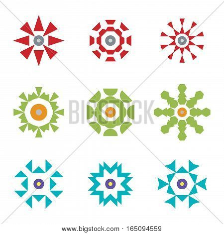 abstract red green blue design icon logos set,vector Illustration EPS10