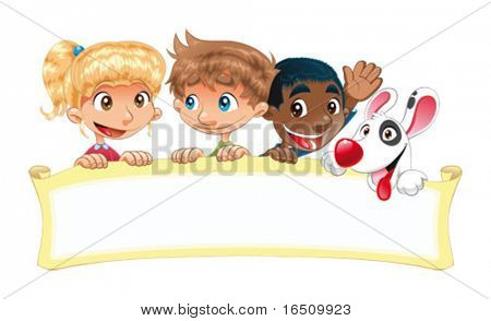 Baby show. Funny cartoon and vector scene