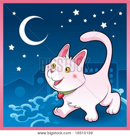 Baby pussy cat in the night