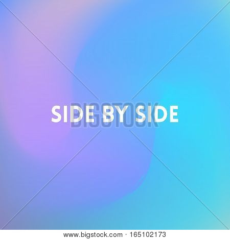 square blurred turquoise background - sky water sea colors With text side by side