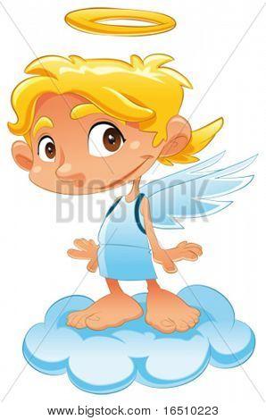 Baby Engel. Lustige Cartoons und Vektor isoliert Charakter